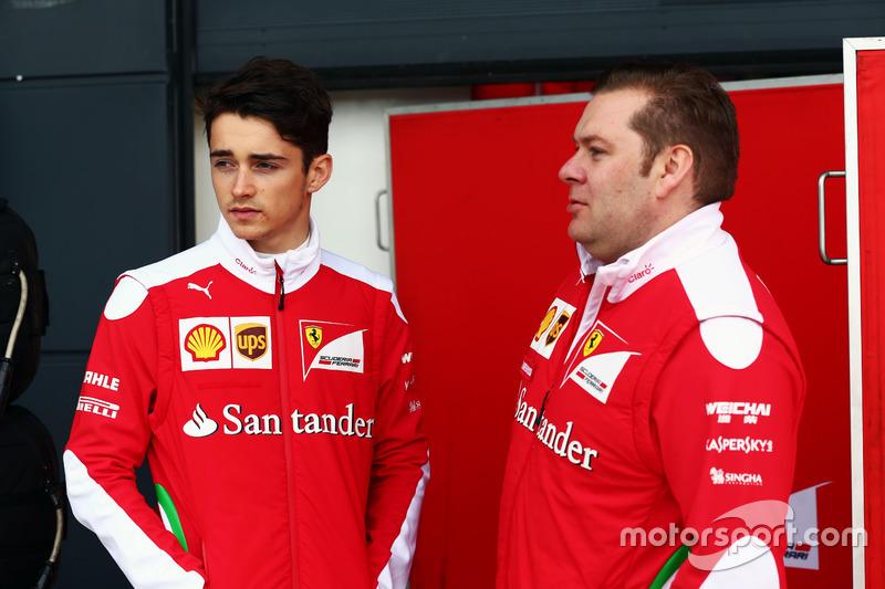 Charles Leclerc, Ferrari Test Driver with Dave Greenwood, Ferrari Race Engineer