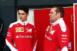 Charles Leclerc, Ferrari Test Driver with Dave Greenwood, Ferrari Race Engineer