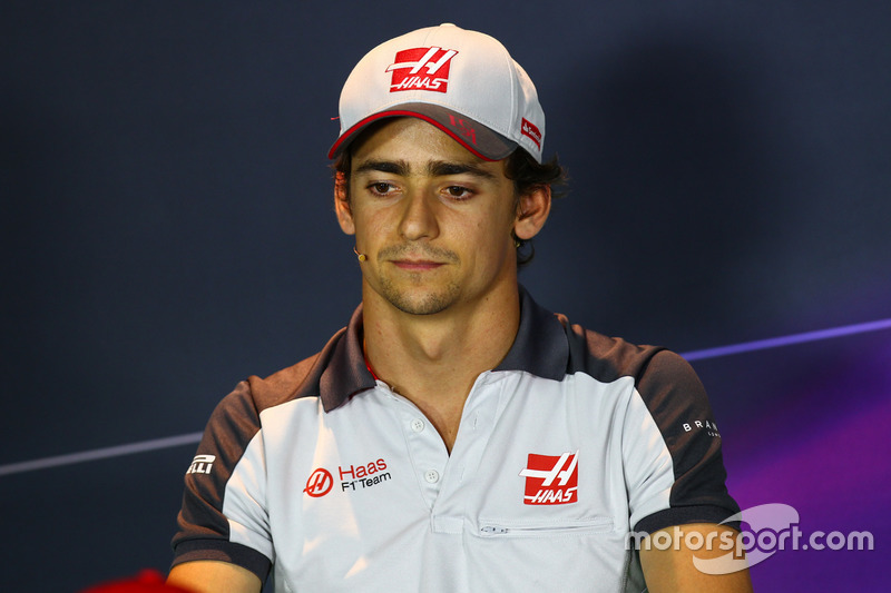 Esteban Gutierrez, Haas F1 Team in the FIA Press Conference