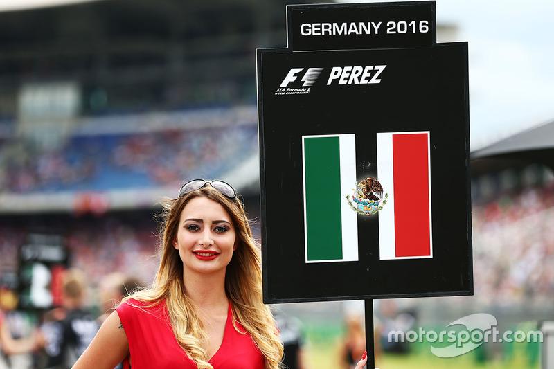 Chica de la parrilla para Sergio Pérez, Sahara Force India F1
