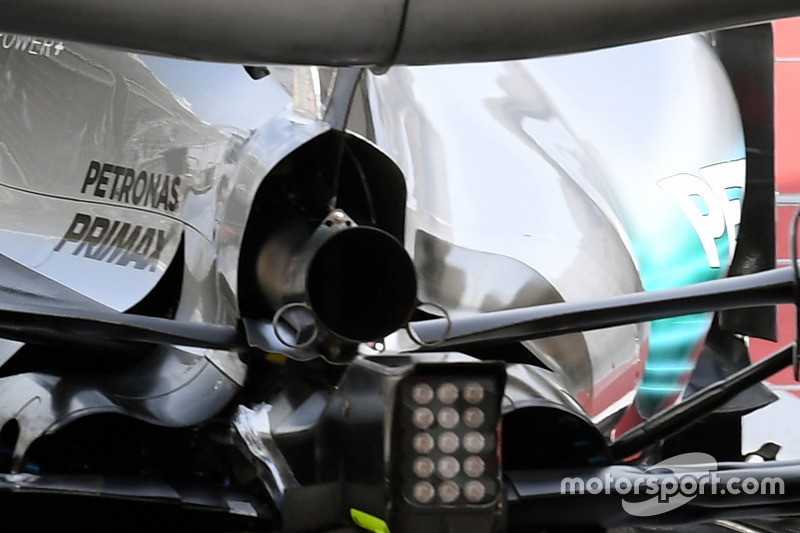 Valtteri Bottas, Mercedes AMG F1 W08 with aero sensor