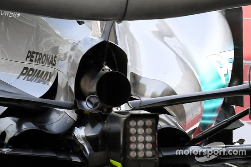 Valtteri Bottas, Mercedes AMG F1 W08, mit Aero-Sensor