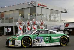Race winner #29 Audi Sport Team Land-Motorsport, Audi R8 LMS: Christopher Mies, Connor De Phillippi, Markus Winkelhock, Kelvin van der Linde