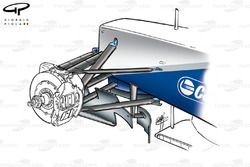 Williams FW23 two piece bargeboards
