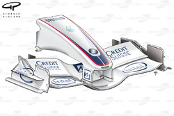 Sauber F1.07 front wing