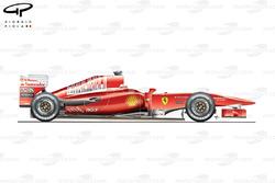 Ferrari F10 side view