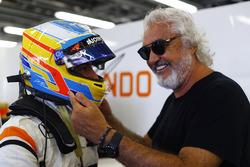 Fernando Alonso, McLaren, mit Flavio Briatore