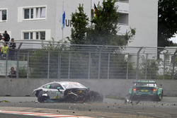 Crash of Gary Paffett, Mercedes-AMG Team HWA, Mercedes-AMG C63 DTM and Mike Rockenfeller, Audi Sport Team Phoenix, Audi RS 5 DTM