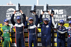 LMP3 podium: winners John Falb, Sean Rayhall, United Autosports, second place Jakub Smiechowski, Martin Hippe, Inter Europol Competition, third place Alexandre Cougnaud, Antoine Jung, Romano Ricci, M.Racing - YMR