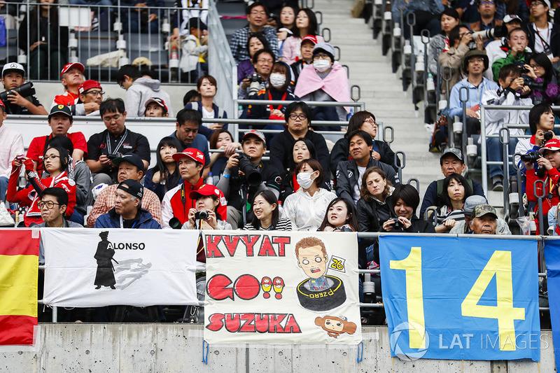 Un mensaje de los fans para Daniil Kvyat, Scuderia Toro Rosso