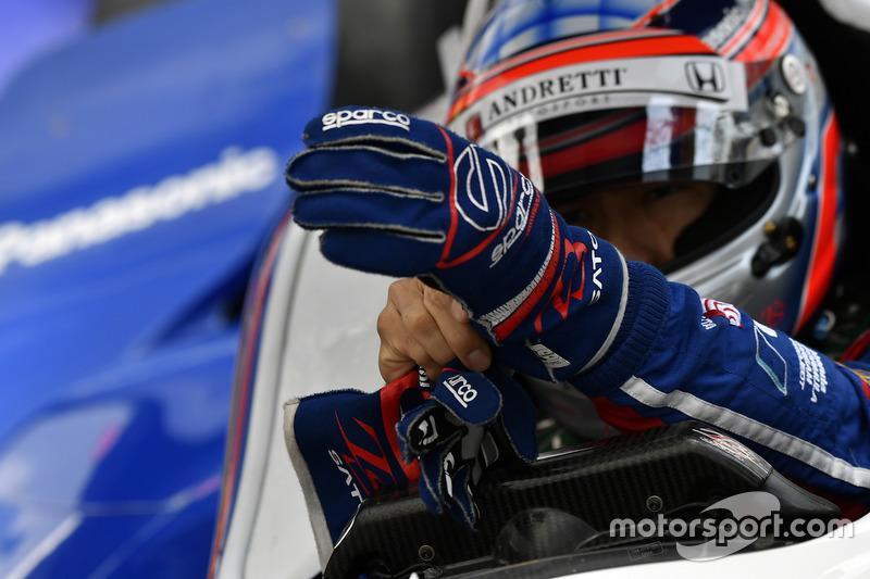 Handschuhe von Takuma Sato, Andretti Autosport, Honda