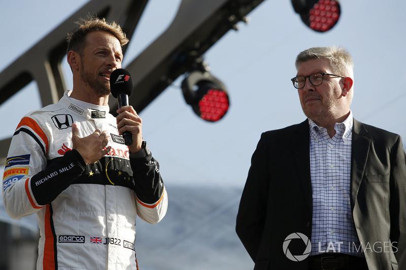 Дженсон Баттон, McLaren, спортивний директор Ф1 Росс Браун