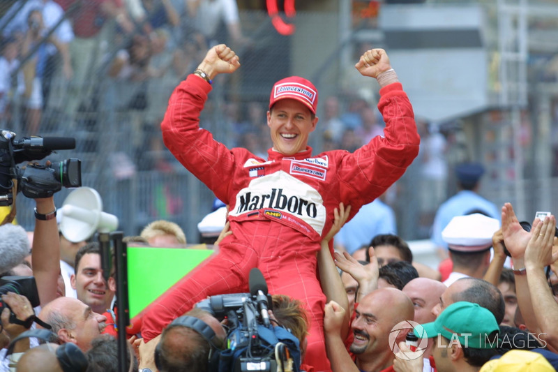 Yarış galibi Michael Schumacher, Ferrari F2001