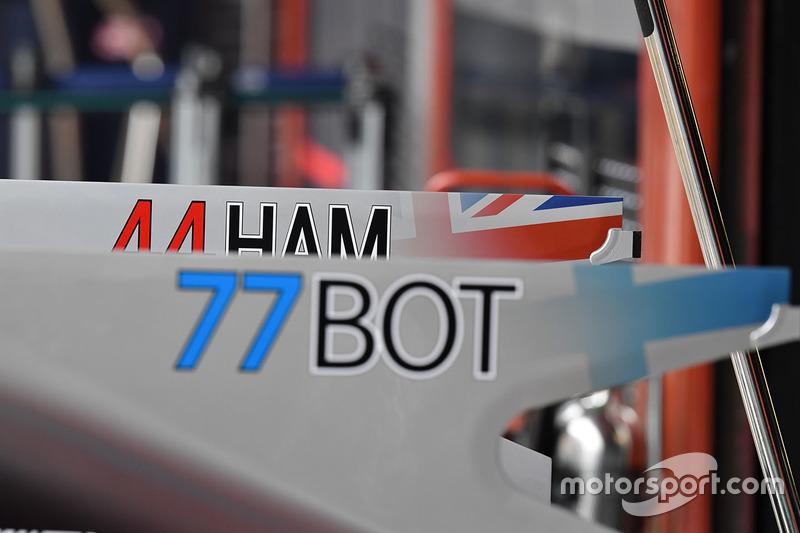 Mercedes AMG F1 F1 W08  bodywork detail