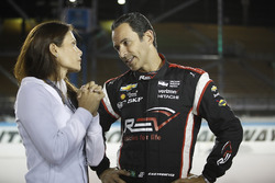 Adriana Henao and Helio Castroneves, Team Penske Chevrolet