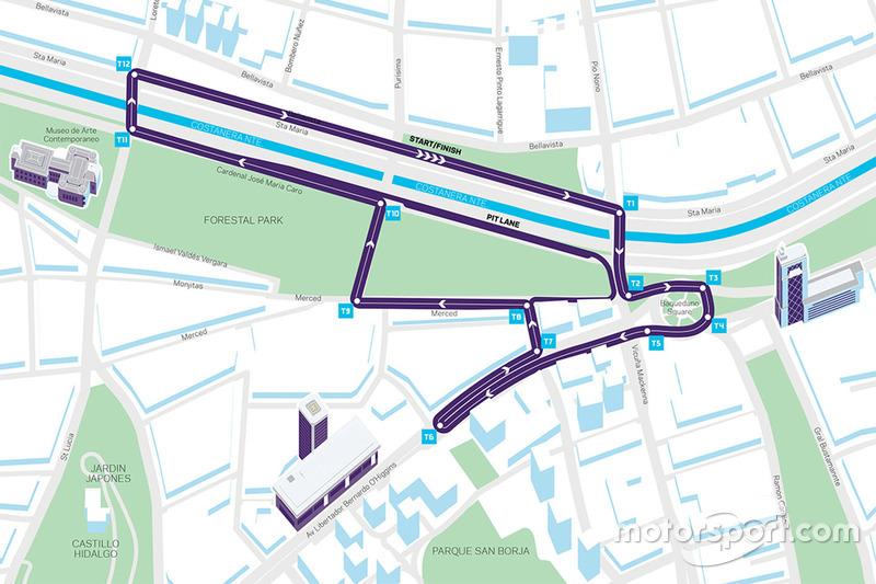 Plan du tracé de Santiago
