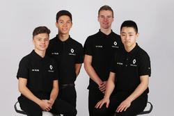 Les pilotes de la Renault Sport Academy, Jack Aitken, Jarno Opmeer, Sun Yue Yang
