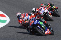Maverick Viñales, Yamaha Factory Racing; Andrea Dovizioso, Ducati Team; Scott Redding, Pramac Racing; Jonas Folger, Monster Yamaha Tech 3