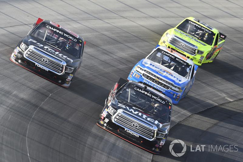 Ben Rhodes, ThorSport Racing, Toyota; Ben Rhodes, ThorSport Racing, Toyota; Johnny Sauter, GMS Racing, Chevrolet; Matt Crafton, ThorSport Racing, Toyota