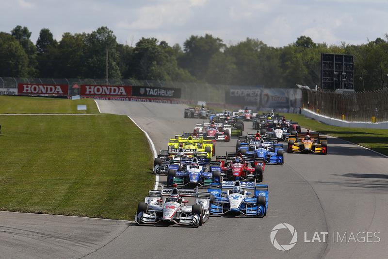Arrancada: Will Power, Team Penske Chevrolet, Josef Newgarden, Team Penske Chevrolet líder