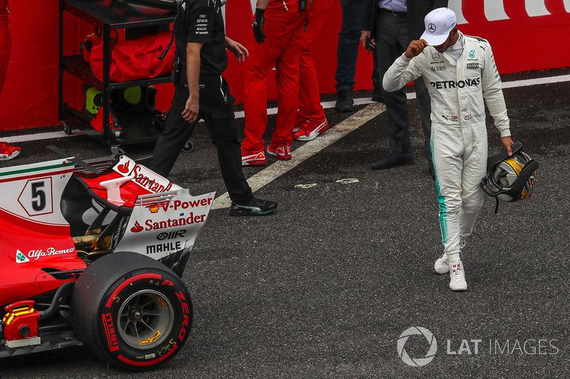 Lewis Hamilton, Mercedes AMG F1 tras conseguir la pole en Japón