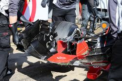 Кевин Магнуссен, Haas VF-17 со сломанным передним крылом