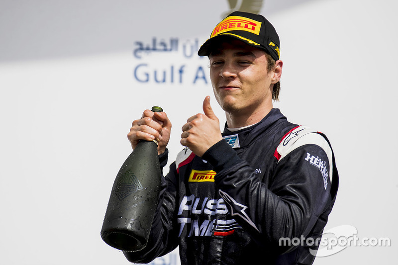 Race winner Artem Markelov, RUSSIAN TIME
