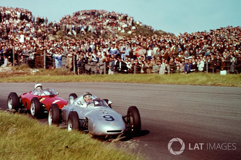 1961: Hans Herrmann, Porsche 718 y Phil Hill, Ferrari Dino 156
