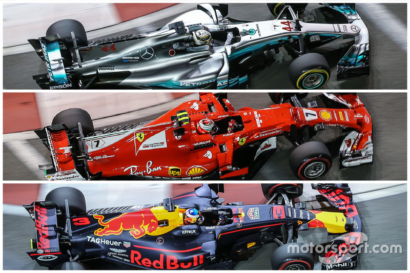 Analyse Mercedes, Ferrari en Red Bull Racing
