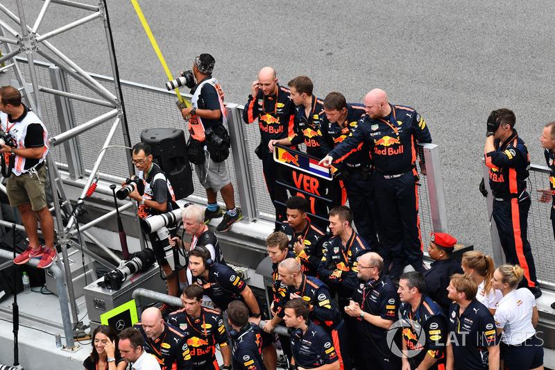 Team Red Bull Racing celebrate