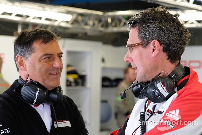 Michael Steiner, Porsche, Vorstandsmitglied; Dr. Frank-Steffen Walliser, Porsche, Motorsportchef