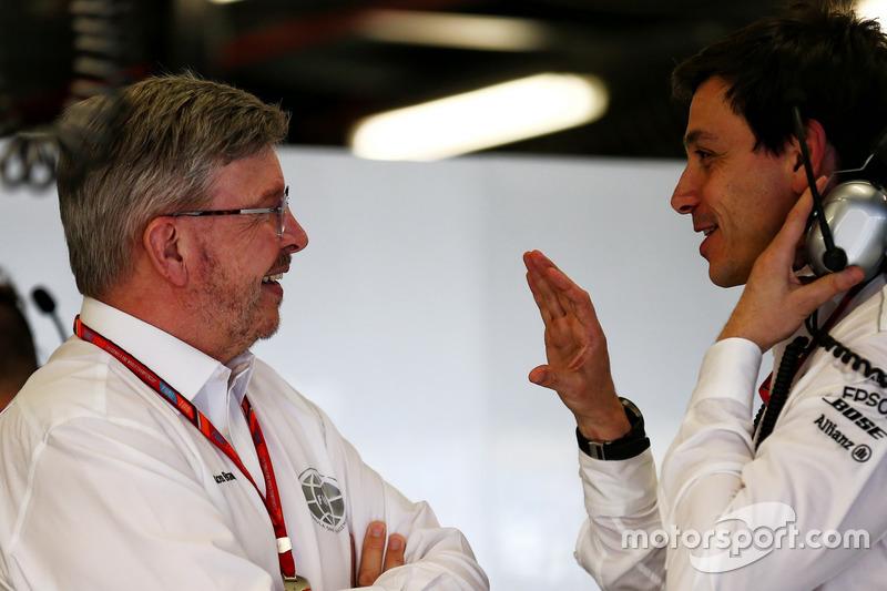 Ross Brawn mit Toto Wolff, Mercedes-Sportchef