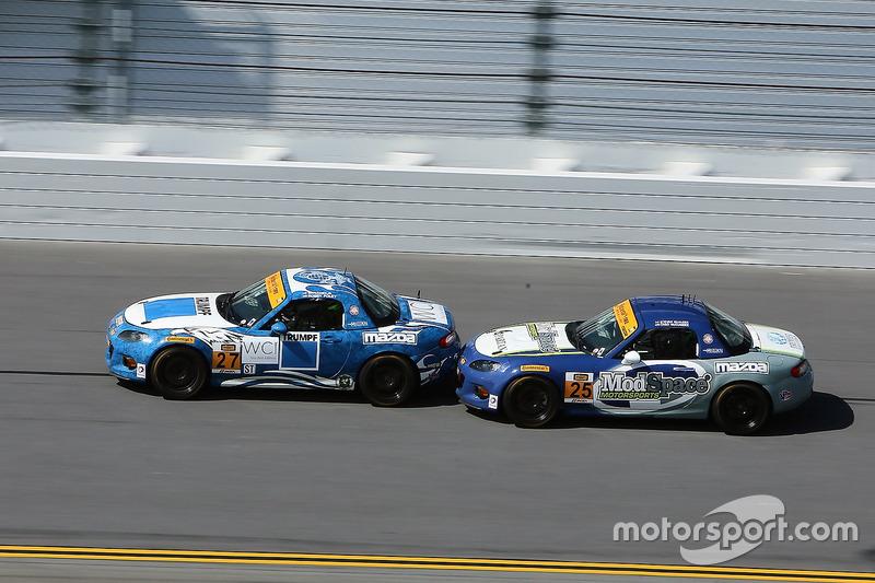 #27 Freedom Autosport Mazda MX-5: Robby Foley, Britt Casey Jr., #25 Freedom Autosport Mazda MX-5: Chad McCumbee, Stevan McAleer