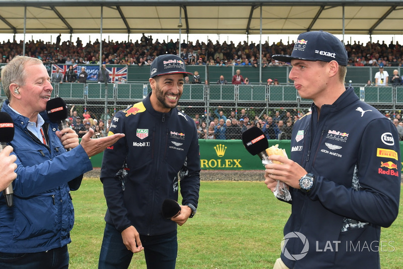 Martin Brundle, Sky Sports F1, Daniel Ricciardo, Red Bull Racing, Max Verstappen, Red Bull Racing