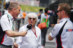 Craig Slater, Sky TV talks with Bernie Ecclestone