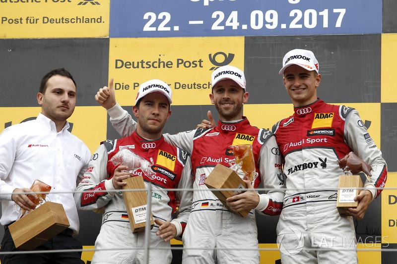 Подіум: переможець Рене Раст, Audi Sport Team Rosberg, Audi RS 5 DTM, друге місце Майк Рокенфеллер, Audi Sport Team Phoenix, Audi RS 5 DTM, третє місце Ніко Мюллер, Audi Sport Team Abt Sportsline, Audi RS 5 DTM