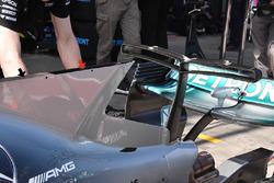 Detail sirip hiu Mercedes AMG F1 W08