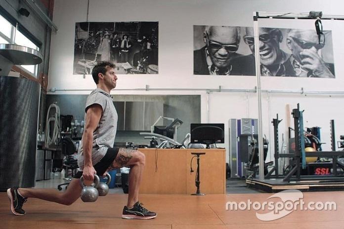 Daniel Ricciardo entrenando