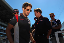 Romain Grosjean, Haas F1 Team on the drivers parade
