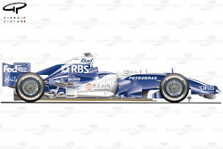 Williams FW28 2006 Shanghai side view