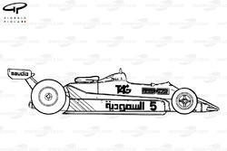 Williams FW07C 1982, vista laterale