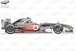 McLaren MP4-24 2009 Melbourne side view