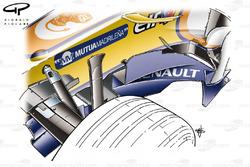 Renault R28 2008 Silverstone bargeboard