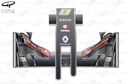 Lotus E22 nose and front wing top view