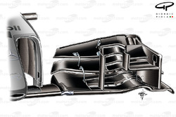 McLaren MP4-29 front wing (old specification for comparison)