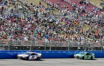 Denny Hamlin, Joe Gibbs Racing, Toyota Camry FedEx Express and Kyle Busch, Joe Gibbs Racing, Toyota Camry Interstate Batteries