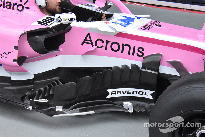 Racing Point Force India side technical detail