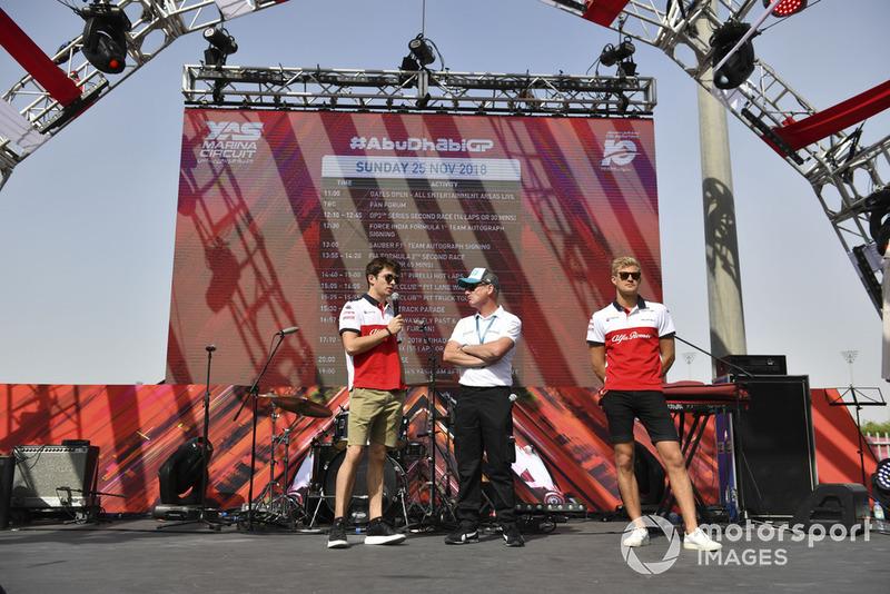 Charles Leclerc, Sauber and Marcus Ericsson, Sauber
