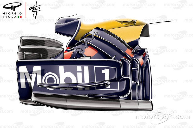 Red Bull Racing RB14 en el GP de Rusia