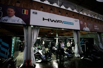 The HWA Racelab garages